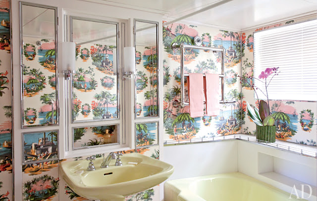 Maison jansen at home at sea adecorativeaffair for Avocado bathroom suite ideas