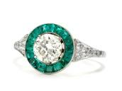 emerald target ring.