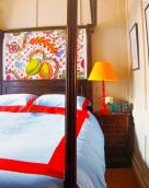 Pentreath: London bedroom enlivens Georgian brown with vivid colour
