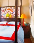 Pentreath: London bedroom enlivens Georgian brown with vivid colour