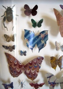 mosaic paper butterflies and bugs
