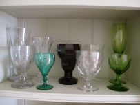 and coloured glass