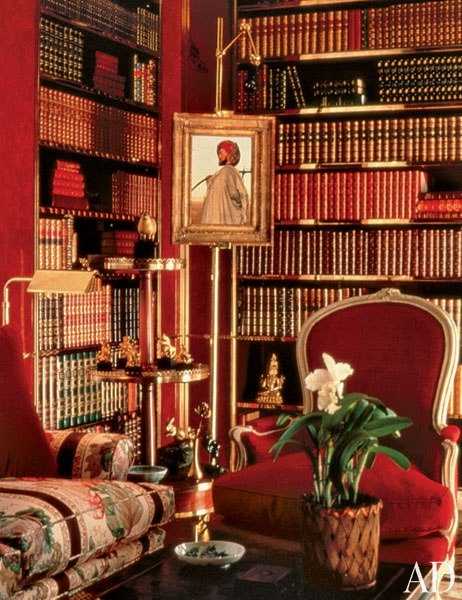Brooke Astor's  NY library by Albert Hadley (red)_c
