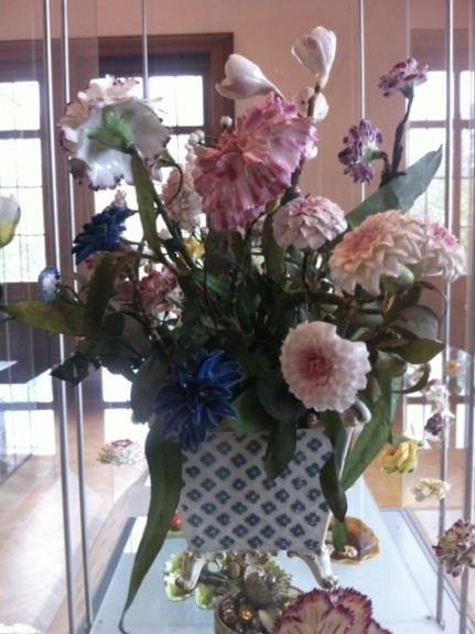 Sevres Vincennes porcelain flowers
