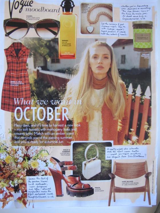Vogue October moodboard