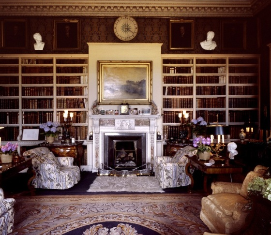 Library, Petworth House, West Sussex, England 1982
