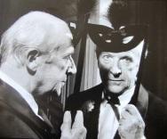 cecil Beaton at the Black and White Ball Truman Capote