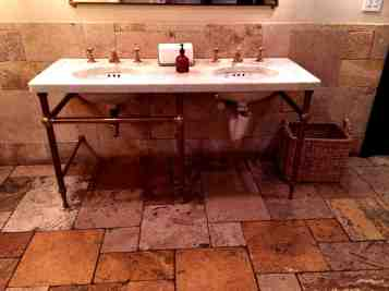and double sink over stone