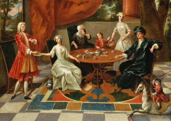 1 Gawen Hamilton (British artist, 1692-1737)  An elegant family at tea