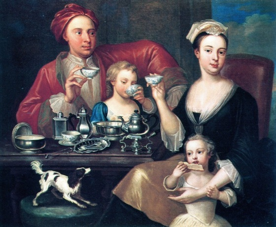 1_Joseph_Van_Aken_Antwerp_born_British_painter_c.1699_1749_An_English_Family_at_Tea_1725