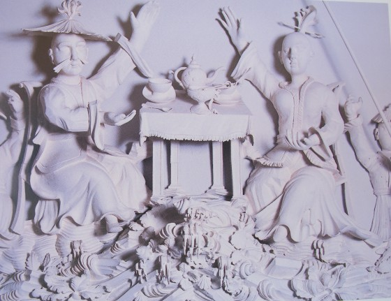 Claydon Hall tea carving