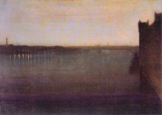 Nocturne in gray and gold, Westminster Bridge by James Abbot McNeill Whistler