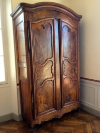 beautiful fruitwood armoire