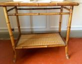 eastern inspired bamboo trolley