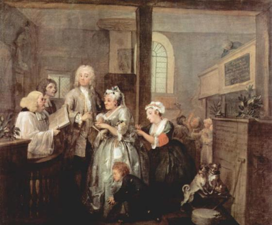 William_Hogarth_A_Rakes_Progress Marriage1