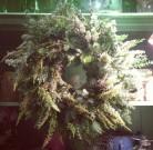 scarlet and violet wreath