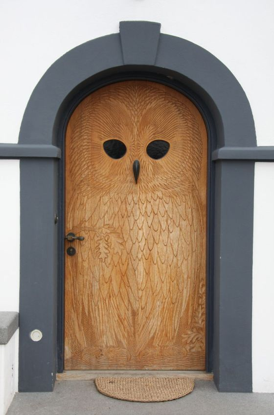 Bored Panda owl door