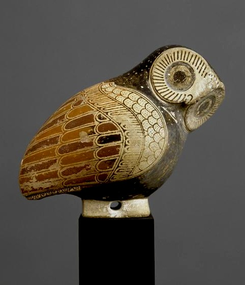 louvre owl perfume container corinthian 7th c bc