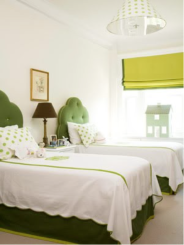green bedroom adecorativeaffair