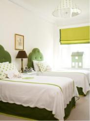 green bedroom adecorativeaffair
