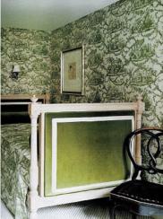 Kat Spade green bedroom adecorativeaffair