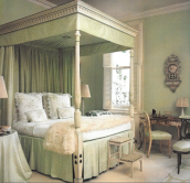 lee Radziwill green bedroom adecorativeaffair