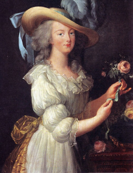 Marie_Antoinette_in_Muslin_dress vigee le brun